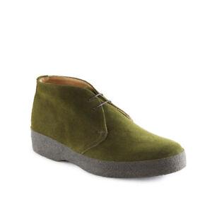 Sanders HI-Top Green Suede Chukka Boot