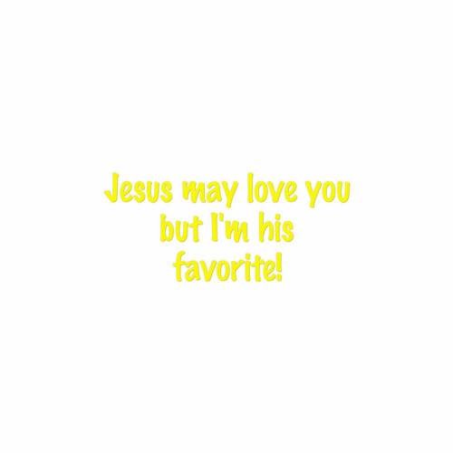 ebn1870 Multiple Color /& Sizes Vinyl Decal Jesus Loves You I/'m Favorite