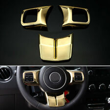 Gold Interior ABS Steering Wheel Cover Trim For Patriot Compass Wrangler 2011+