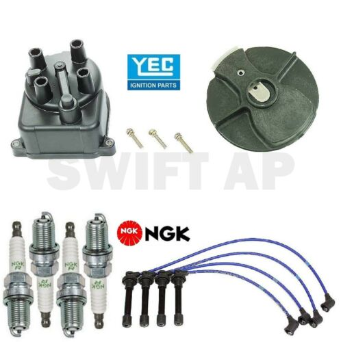 Japan Made Tune Up Kit Cap Rotor Spark Plugs Wire for Honda Civic 1.6L 1996-2000