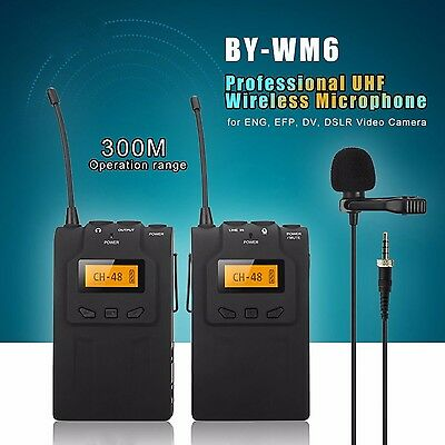 For BOYA Lavalier Wireless Microphone System for ENG EFP Canon Sony Nikon BY-WM6