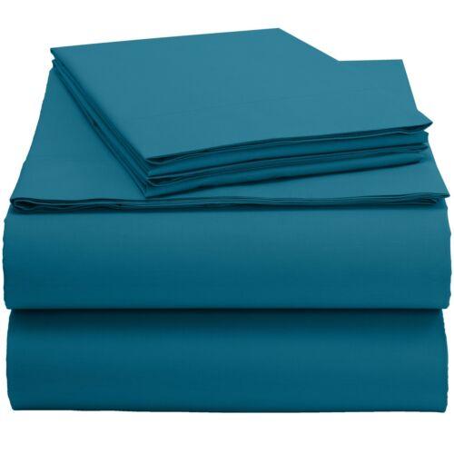Plain 100/% Organic Cotton 300 Thread Count Bed Sheet Set Deep Pocket Sheets