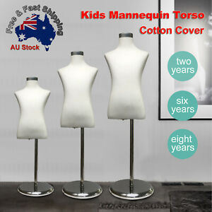 Adjustable-Cotton-Cover-Child-Form-Mannequin-Torso-Iron-Stand-Dummy-Model-Kids-L