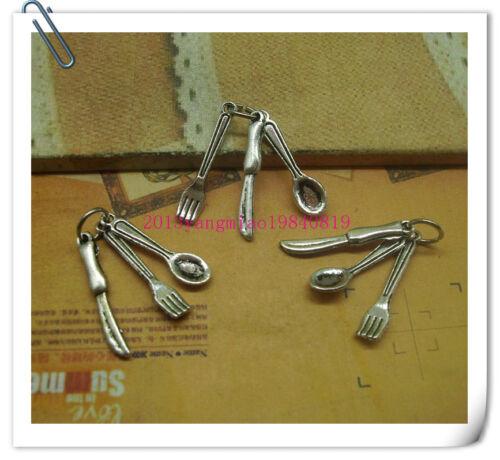 wholesale 20//100pcs Retro Style ancient silver  Charms Pendants