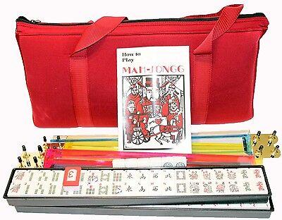 4 Pushers American Mahjong Set In Burgundy Bag 166 Tiles