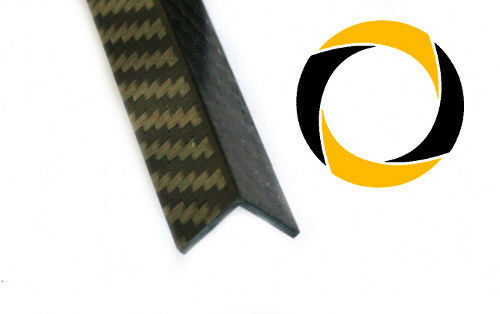 CFK Winkel 2,5mm stark Carbon Kohlefaser 3K 220g//m² Köper CNC Fräsen