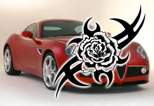 WINDOW GRAPHIC//STICKER//DECAL CAR LAPTOP TRIBAL ROSE