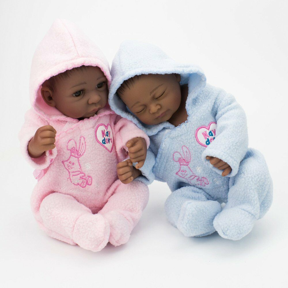 African american dolls full silicone vinyl newborn twins baby boy girl doll gift for sale online ebay