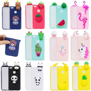 detailed look d34e7 77847 Details about Cute 3D Soft Gel Slim Case Cover Protector For Huawei P8  Honor 8 P10 Lite Phone