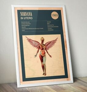 Nirvana-Art-Print-In-Utero-Print-Kurt-Cobain-Poster-Rock-Band-Poster