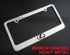 Lexus Logo Chrome Metal License Plate Frame