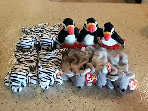 Awesome Ty Beanie Babies Baby Blizzard Mel Puffer lot of 10 New with tags NWT