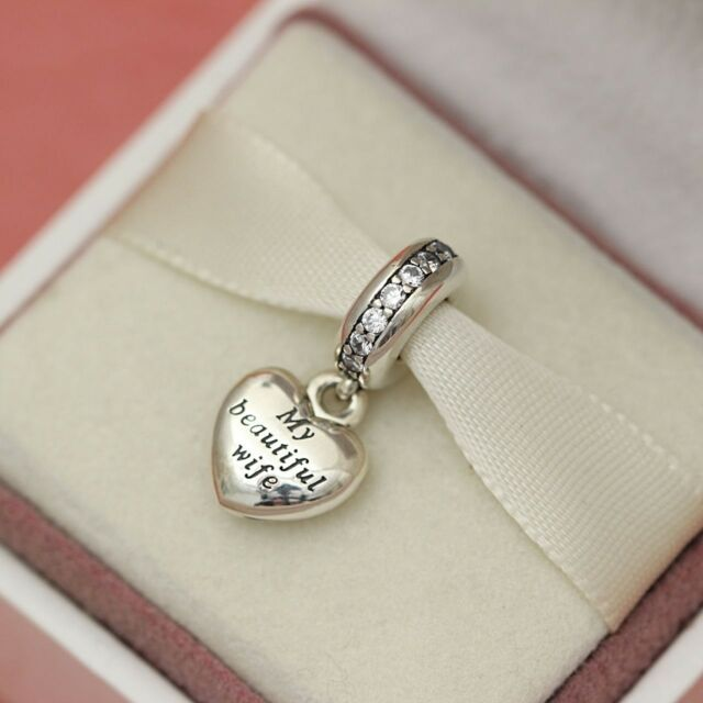cc3fd66ce Pandora My Beautiful Wife Pendant Sterling Silver Charm 791524CZ ALE -  Reduced