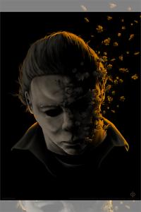 "HALLOWEEN /""This Isn/'t A Man/"" Fall Orange by Matt Ryan Tobin Print 18/"" x 24 Mondo"