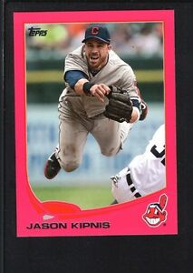 JASON-KIPNIS-2013-TOPPS-MINI-267-PINK-PARALLEL-INDIANS-SP-06-25