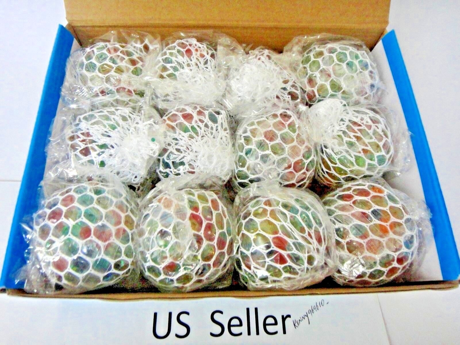 3   Squishy Mesh sensory stress reliever ball toy autism squeeze anxiety 12Pcs