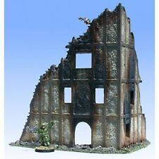 Armorcast 28mm 1226 Ruined 4 Story Stucco Building Corner Frostgrave Bolt Action
