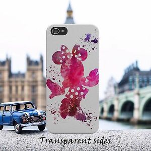 Disney-Minnie-Watercolour-Painting-Phone-Case-Cover-For-iPhone-Samsung-models