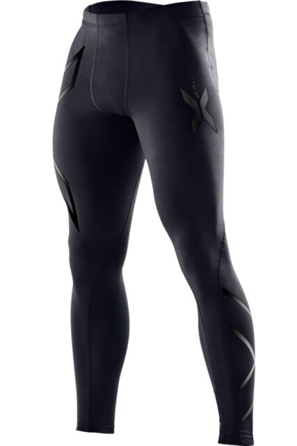 2XU MENS COMPRESSION TIGHTS - BLACK/NERO M