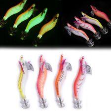 Glow Shrimp Prawn Baits Squid Fishing Lures Jigs Hook Bait Tackle 15g//20g