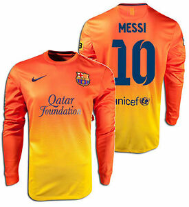 Image is loading NIKE-LIONEL-MESSI-FC-BARCELONA-LONG-SLEEVE-AWAY- 7c6e14bfc