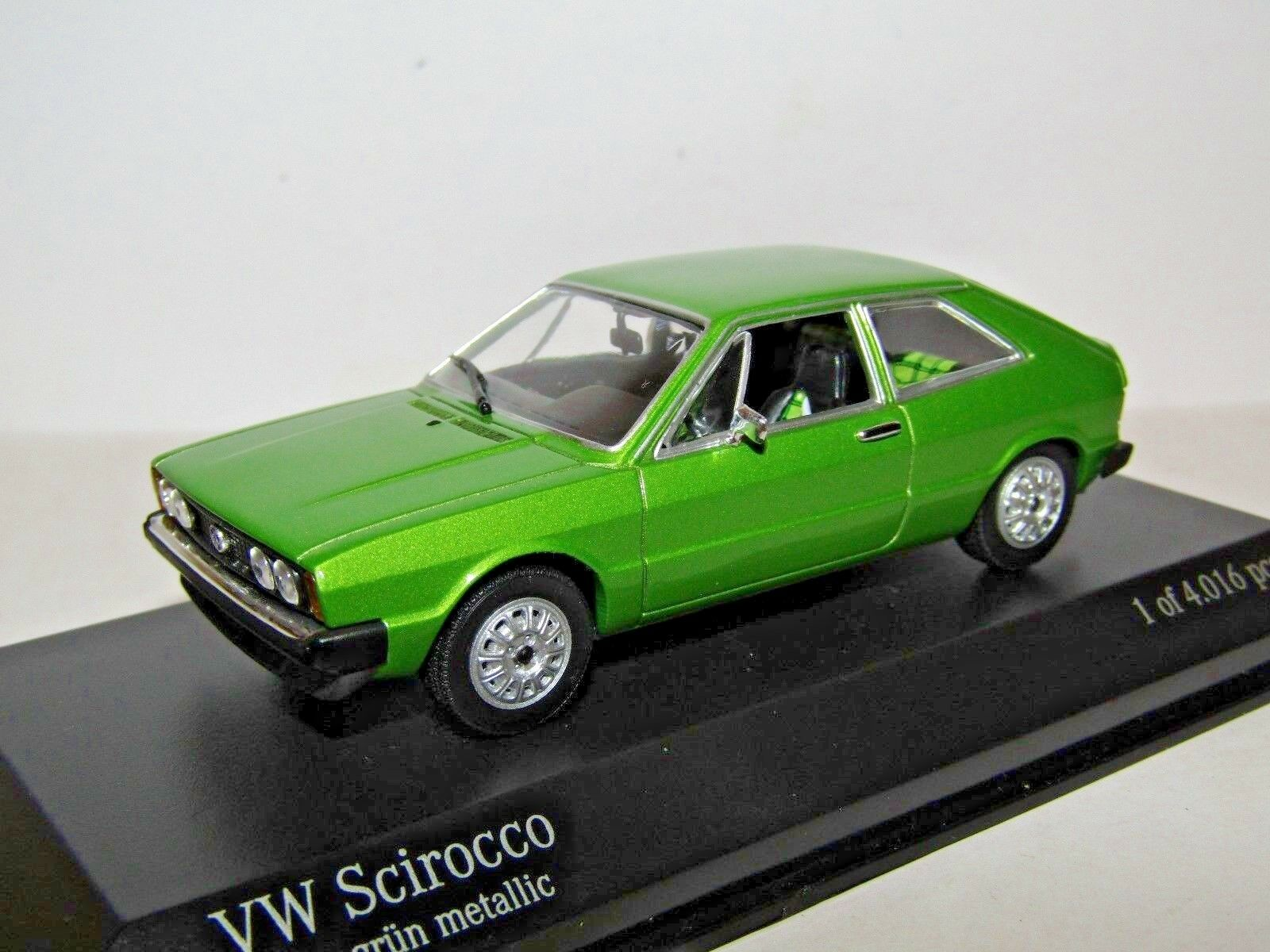 Minichamps VW SCIROCCO Metallico verde 1974  430 050420