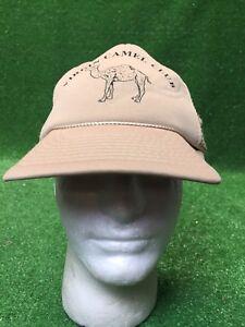 Vintage Virgin Camel Club Tan SnapBack Hat Cap Fast Free Shipping