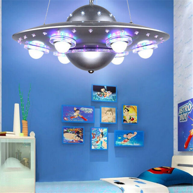 Spaceship LED Chandelier UFO Pendant Lamp Children Bedroom Home Decoration  Light