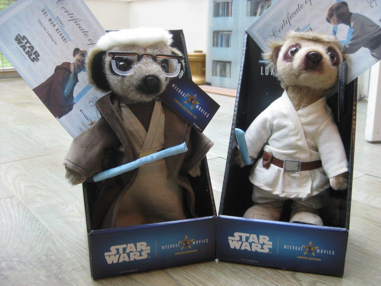 STAR STAR STAR WARS Sergei as Obi-Wan Kenobi & Aleksandr as Luke Skywalker Meerkat  BNIB 8fe9e0