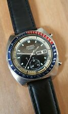 Vintage seiko chronograph pepsi pouge 6139 6002 gents mens automatic watch rare