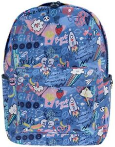Multi Bnwt Graffiti Accessorize Monsoon Colour Backpack Blue Doodle Ladies Large YTxwq6