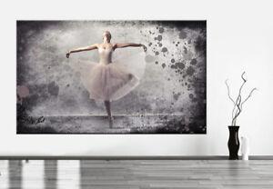 fe8535123f6d Das Bild wird geladen Prima-Ballerina-Ballett-Bild-Leinwand-Abstrakte-Kunst- Bilder-