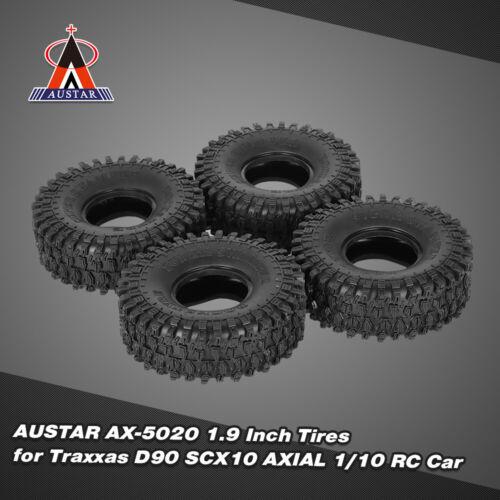 4Pcs AUSTAR AX-5020 1.9 Inch 120mm Rock Crawler Tires for 1//10 Traxxas T3F7