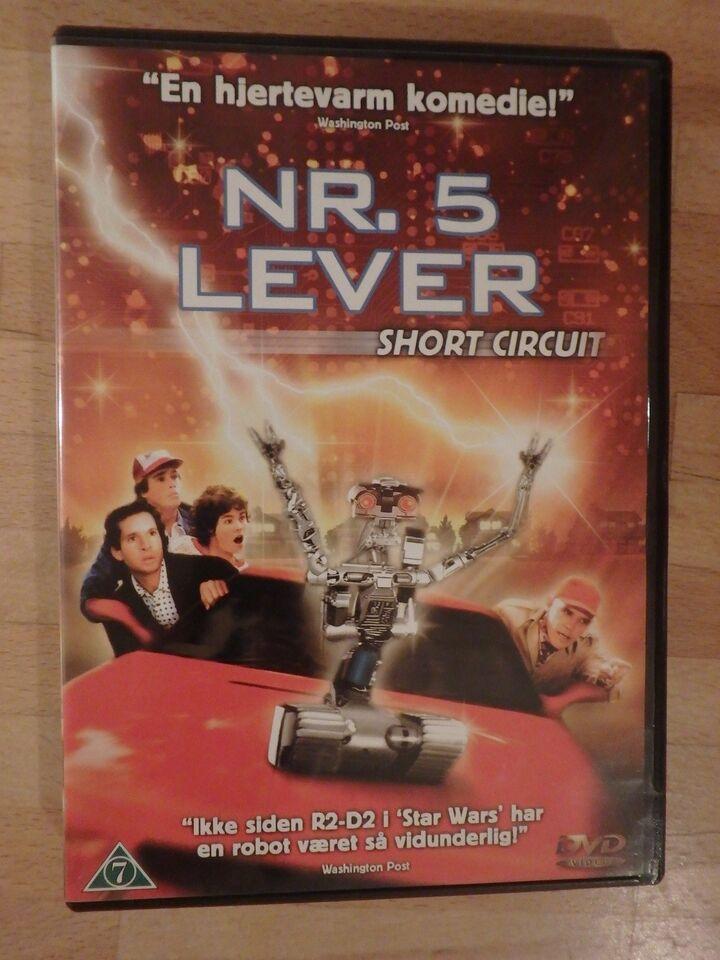 Nr. 5 Lever, instruktør John Badham, DVD