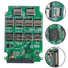 "10x Micro SD TF Memory Card to SATA SSD Adapter RAID Quad 2.5"" SATA Converter"