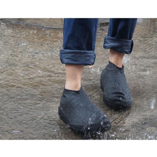Silicone Rain Shoes Covers Reusable Waterproof  Rain Boots Non-slip Washable UK