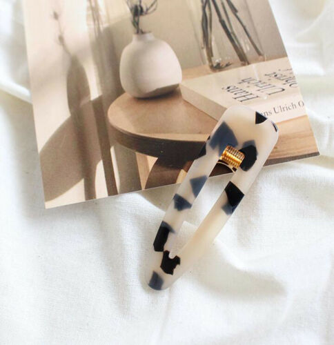 Details about  /Vintage Women Acrylic Clip Snap Barrette Stick Hairpin Hairband Hair Accessory