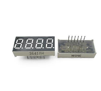 2pcs 0.36 inch 4 digit led display 7 seg segment Common cathode Bright Red HK