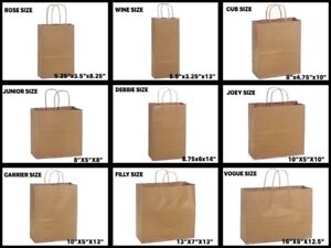 Natural Kraft Shopping Gift Bags 60 Paper Weight Choose