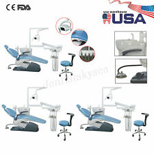 1 3dental Unit Chair Hard Leather Computer Controlled Dc Motor Chair Stools Fda