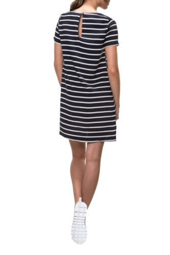 Only Damen Kleid Sommerkleid Shirtkleid Kurzarm O-Neck Print Color Mix NEI