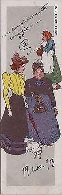 # UMORISTICA: 1903 (non comune) IN FORMATO MINI..DUE SIGNORE A PASSEGGIO