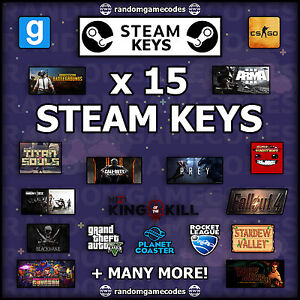 15 x Random Steam CD Keys - CHEAPEST - Games up to £40!!!
