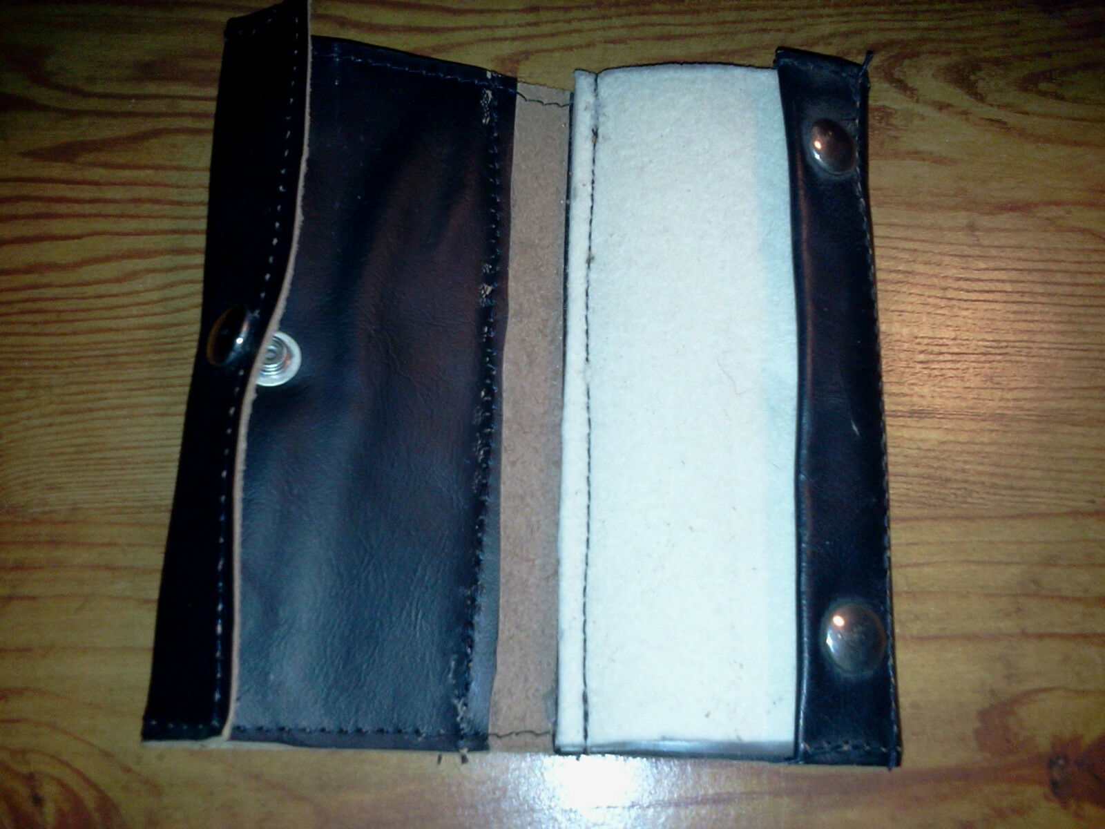 New homemade leather tied fly and hook case