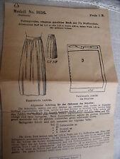 3616 SUPERBE ANCIEN PATRON ORIGINAL  FAVORIT SCHNITT 1920 JUPE PAYSANNE