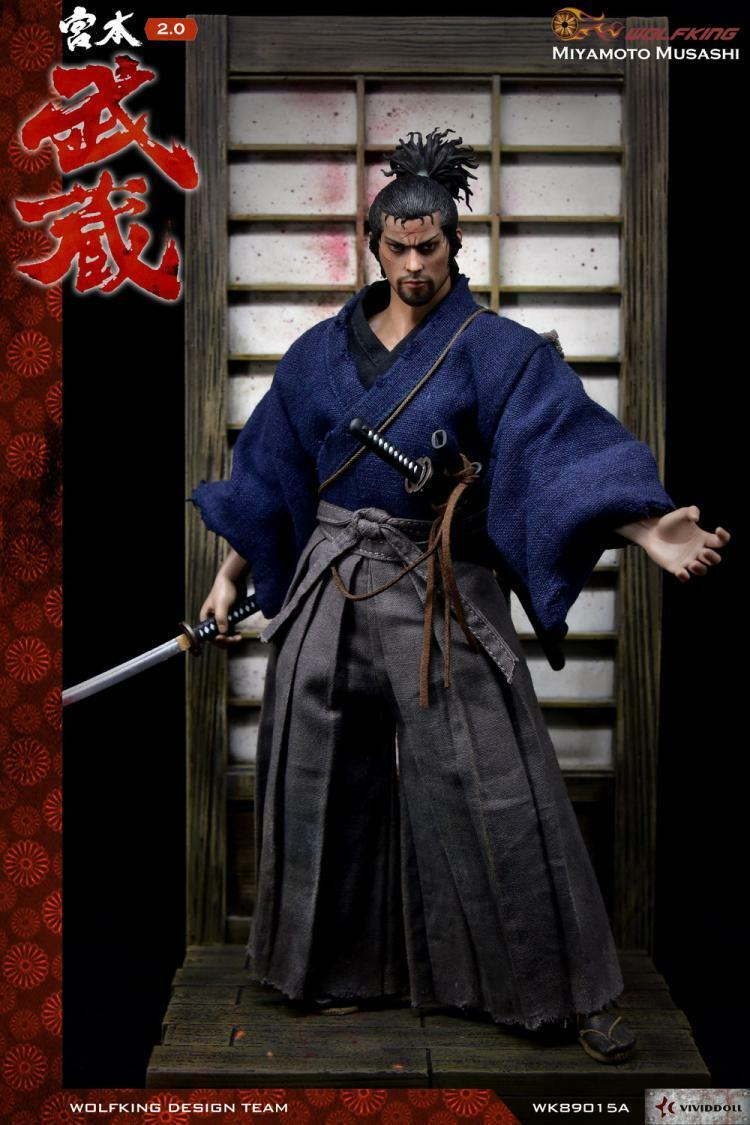 Wolfking 1 6 Miyamoto Musashi 2.0 figura de acción muñeca colección SAMURAI en Caja