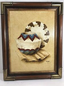 Giclee-on-Canvas-by-Cooper-Painting-of-Navajo-Pottery-signed-by-Artist