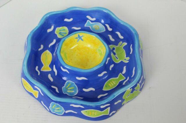 Beachcombers 89-3605 Ceramic Blue Crab Chip and Dip Set
