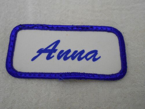 ANNA  USED SILK SCREEN VINTAGE SEW ON NAME PATCH TAGS ASSORTED COLORS