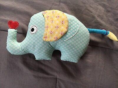 2019 Latest Design Elephant Happi Tooth Fairy Animal Plush Pillow Holder Cute Stuffed Heart Pocket